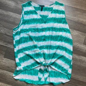 Sami and jo tie front womens top XL